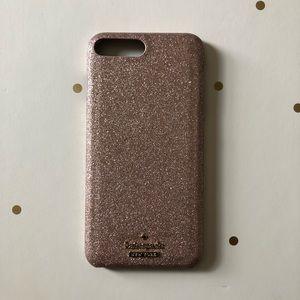 Rose Gold Glitter Kate Spade iPhone 8 Plus Case